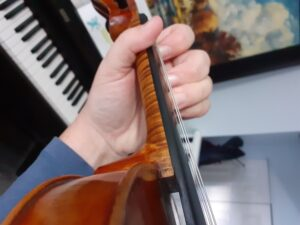 Violin finger positions