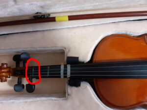 Violin finger positions are measured from the nut